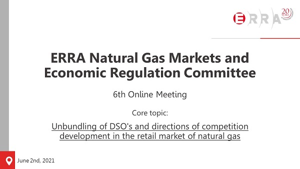 ERRA Natural Gas Markets and Economic Regulation Committee
